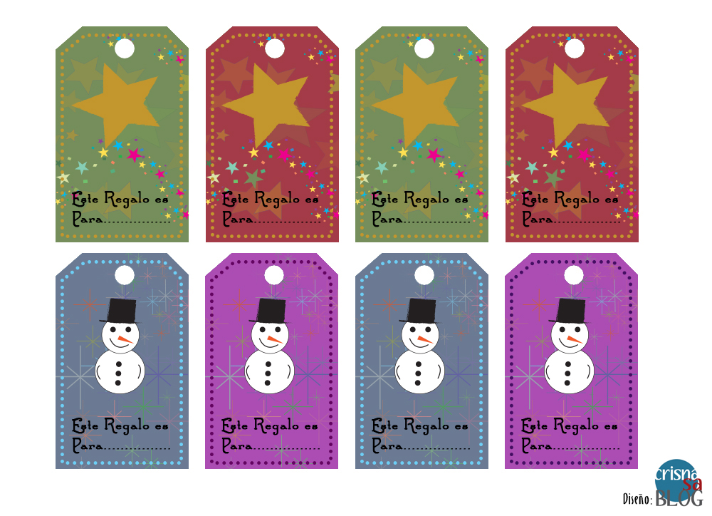 Etiquetas para regalos de navidad imprimibles crisnasa blog - Etiquetas para regalos para imprimir ...
