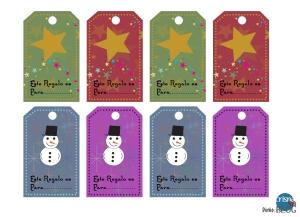 free printable Christmas etiquetas imprimibles gratis Navidad