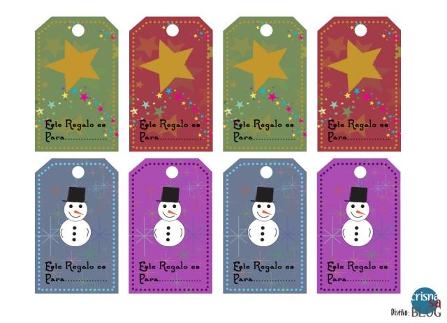 Etiquetas para Regalos de Navidad Imprimibles