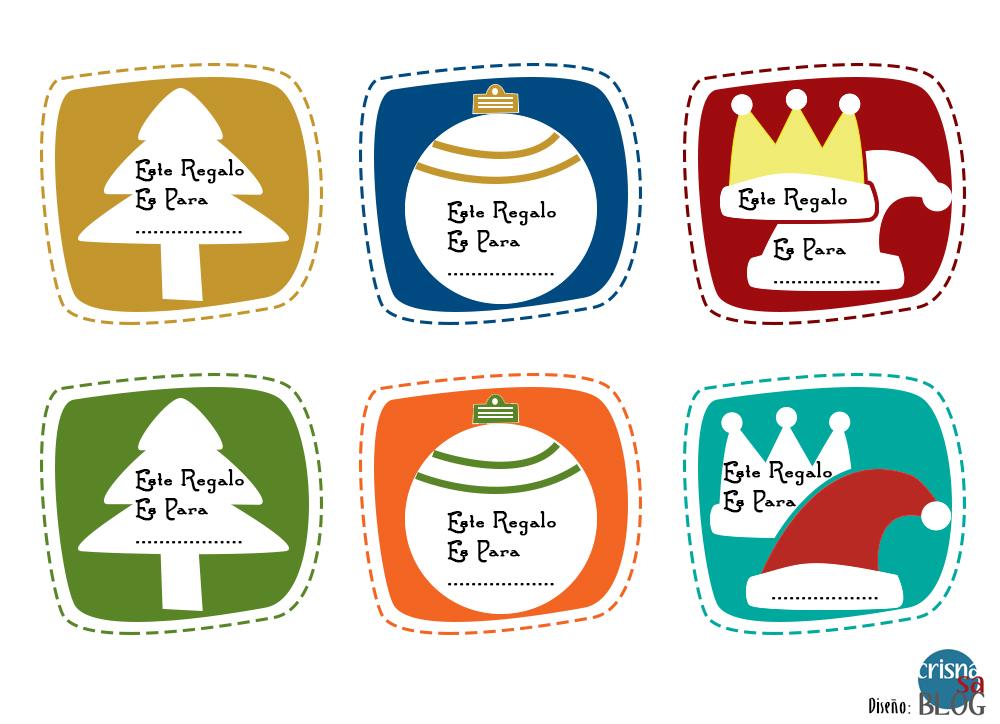 Etiquetas para Regalos de Navidad Imprimibles – Crisnasa Blog