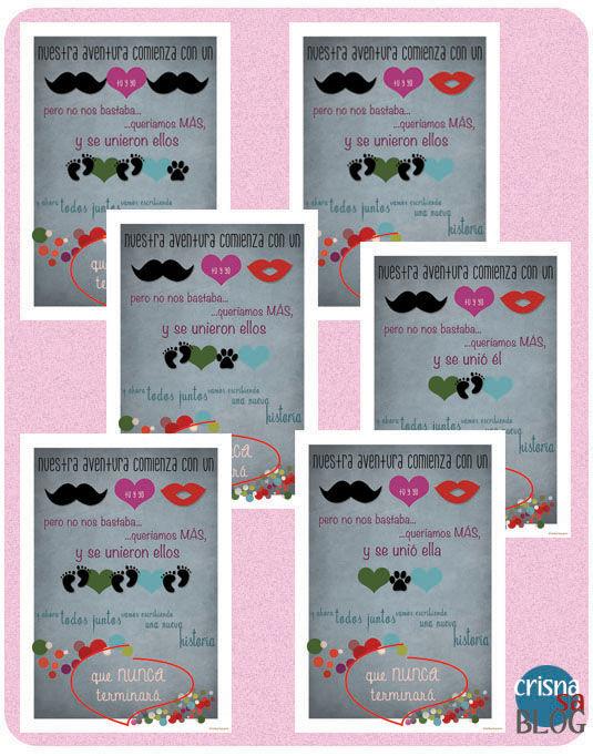 regalos personalizados San Valentín, láminas familiar
