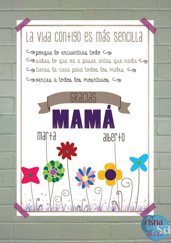 lámina dia de la madre