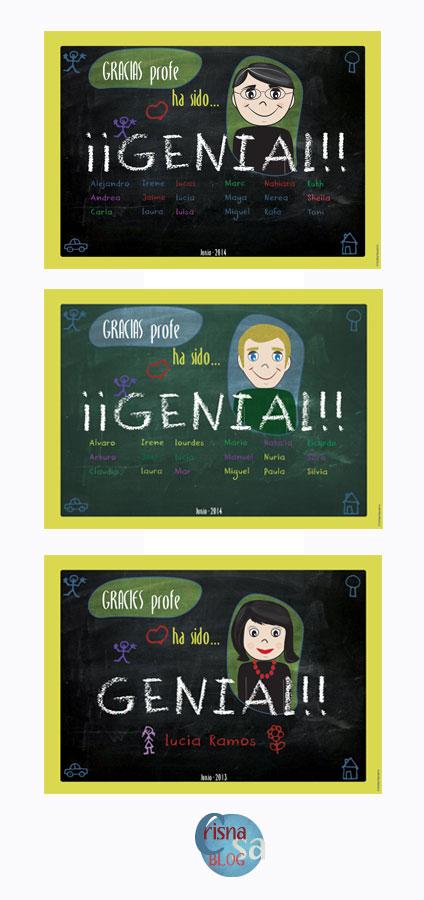 láminas personalizadas como regalo para profesores