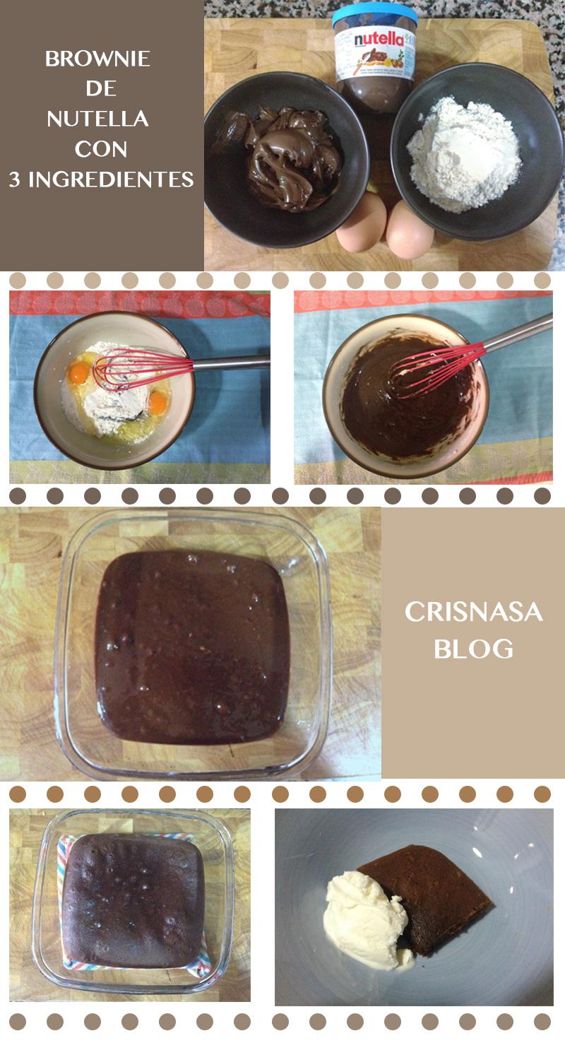 Brownie De Nutella Para Hacer Con Niños Crisnasa Blog