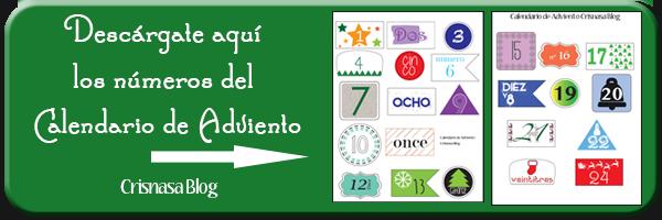 Descargar gratis números calendarios de adviento